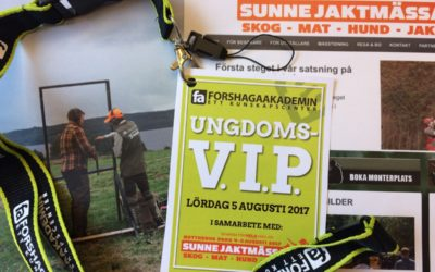 V.I.P.-aktivitet för ungdomar på Sunne Jaktmässa